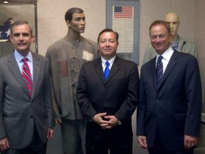 BBG with American Warrior guests Col. Lee Ellis (L) and Gary Sinise (R)